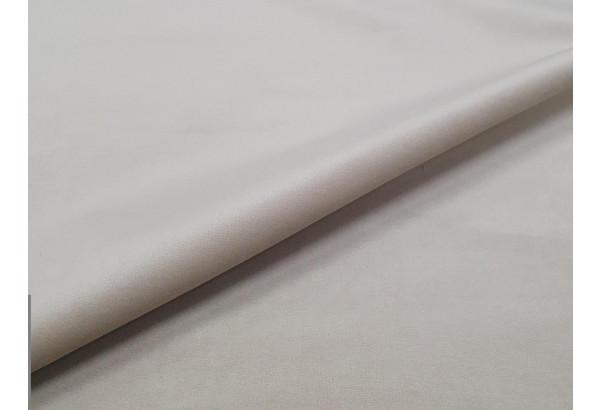 Прямой диван аккордеон Сенатор бежевый/коричневый (Велюр/Экокожа) - фото 7