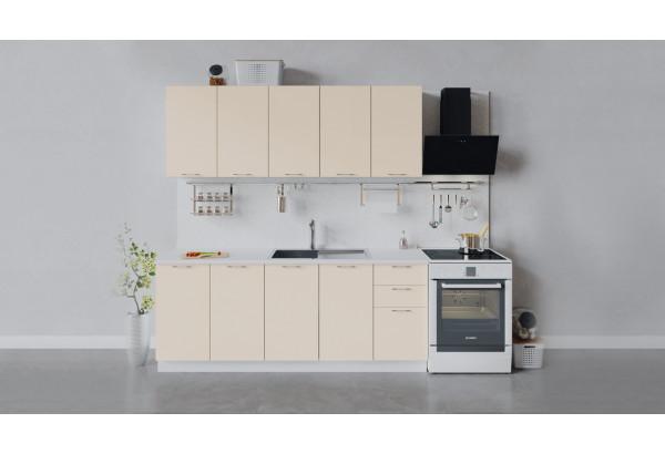 Кухонный гарнитур «Весна» длиной 200 см (Белый/Ваниль глянец) - фото 1