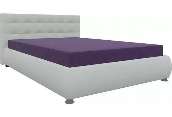 Тахта - кровать Рио Фиолетовый/Белый (Микровельвет) - фото 1