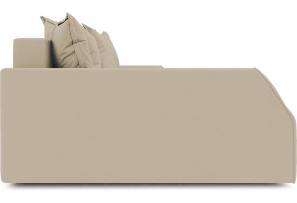 Диван угловой левый «Люксор Slim Т2» (Poseidon Latte (иск.замша) коричнево-бежевый) - фото 5