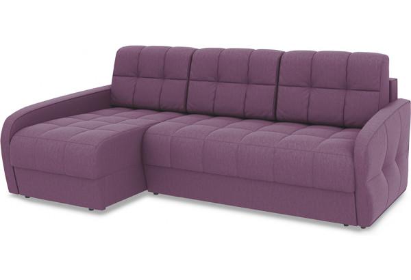 Диван угловой левый «Аспен Slim Т2» (Kolibri Violet (велюр) фиолетовый) - фото 1
