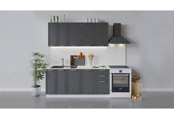 Кухонный гарнитур «Ольга» длиной 180 см (Белый/Графит) - фото 1
