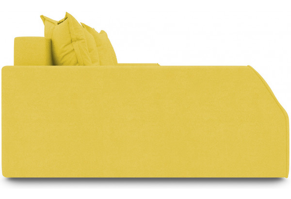 Диван угловой левый «Люксор Slim Т2» Maserati 11 (велюр) желтый - фото 5