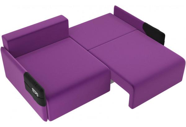 Прямой диван Армада Фиолетовый/Черный (Микровельвет) - фото 6
