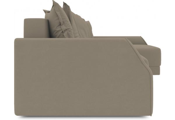 Диван угловой правый «Люксор Slim Т2» (Poseidon Mocco (иск.замша) светло-коричневый) - фото 3