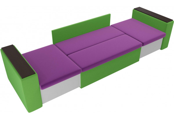Детский диван Арси фиолетовый/зеленый (Микровельвет) - фото 5