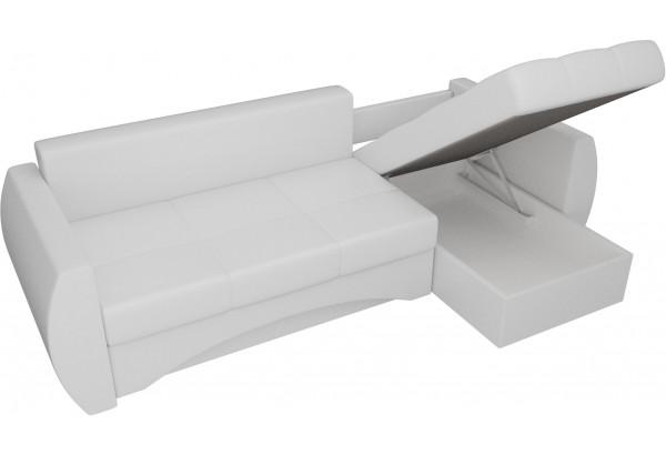 Угловой диван Сатурн Белый (Экокожа) - фото 5