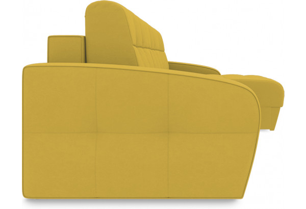 Диван угловой правый «Аспен Т1» (Poseidon Curcuma (иск.замша) желтый) - фото 3