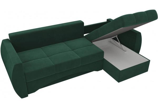 Угловой диван Сатурн Зеленый (Велюр) - фото 5