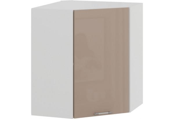 Шкаф навесной угловой «Весна» (Белый/Кофе с молоком) - фото 1