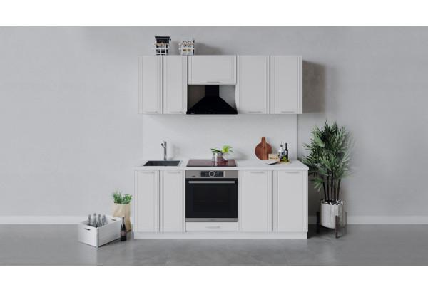 Кухонный гарнитур «Ольга» длиной 200 см со шкафом НБ (Белый/Белый) - фото 1