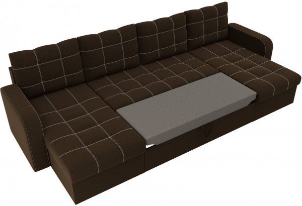 П-образный диван Ливерпуль Коричневый (Микровельвет) - фото 6