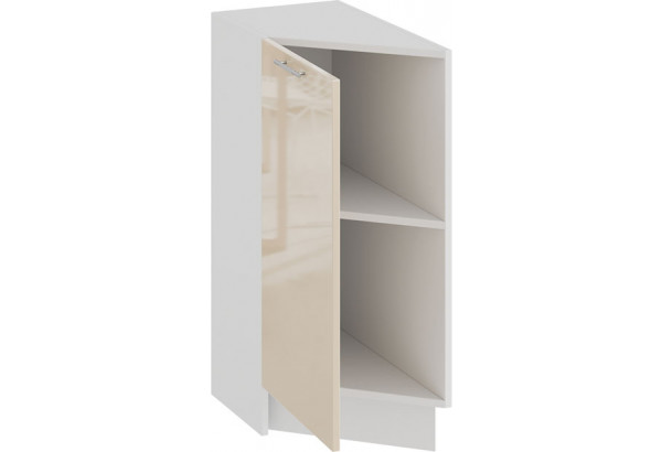 Шкаф напольный торцевой с одной дверью «Весна» (Белый/Ваниль глянец) - фото 2