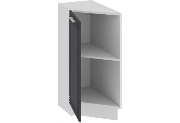 Шкаф напольный торцевой с одной дверью «Ольга» (Белый/Графит) - фото 2