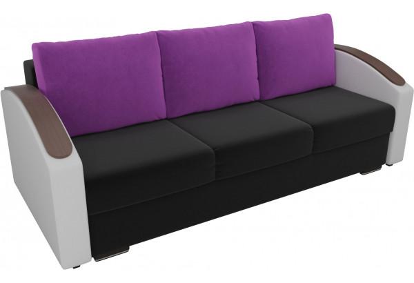 Прямой диван Монако slide Черный/Белый (Микровельвет/Экокожа) - фото 4