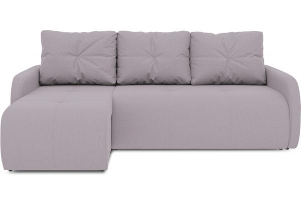 Диван угловой левый «Томас Slim Т1» (Poseidon Pale Lavender (иск.замша) бледно-лавандовый) - фото 2
