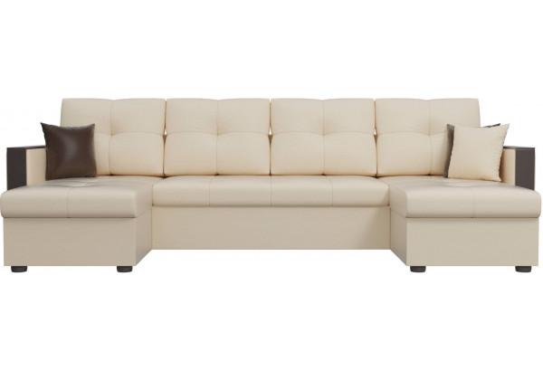 П-образный диван Валенсия Бежевый (Экокожа) - фото 2