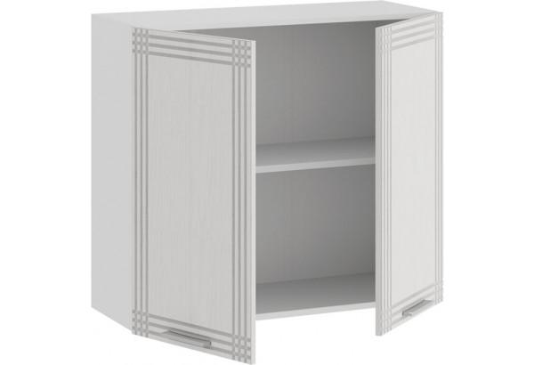 Шкаф навесной c двумя дверями «Ольга» (Белый/Белый) - фото 2