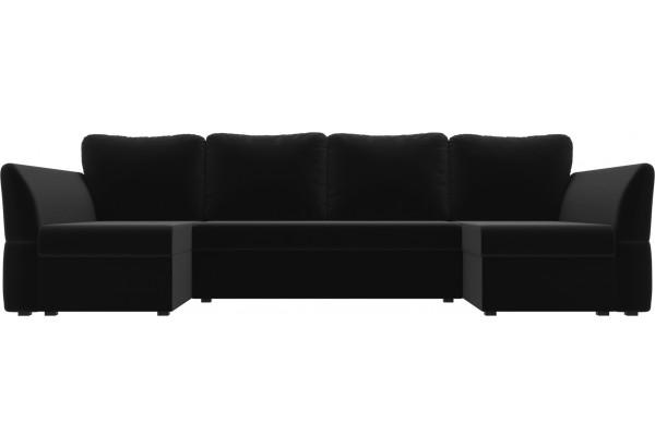 П-образный диван Гесен Черный (Микровельвет) - фото 2