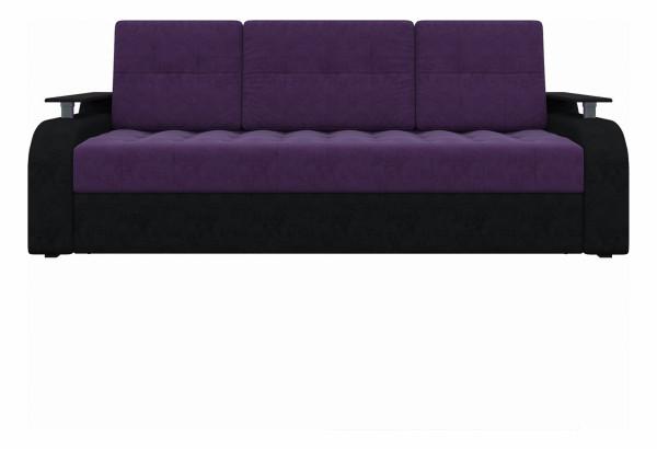 Диван прямой Ричард Фиолетовый/Черный (Микровельвет) - фото 2