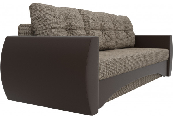 Прямой диван Сатурн коричневый/коричневый (Корфу/экокожа) - фото 3