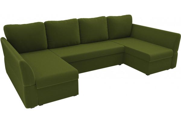 П-образный диван Гесен Зеленый (Микровельвет) - фото 4