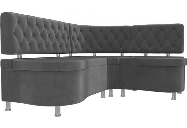 Кухонный угловой диван Вегас Серый (Велюр) - фото 3