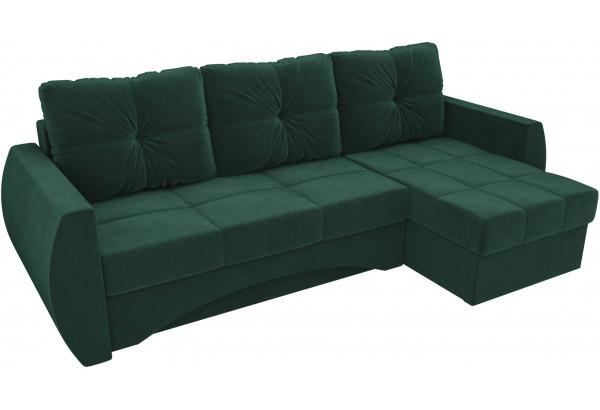 Угловой диван Сатурн Зеленый (Велюр) - фото 4