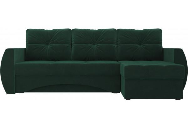 Угловой диван Сатурн Зеленый (Велюр) - фото 2