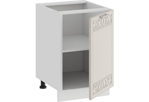 Шкаф напольный с одной дверью «Долорес» (Белый/Крем) - фото 2