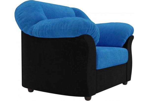 Кресло Карнелла голубой/черный (Велюр) - фото 4
