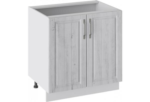 Шкаф напольный (ПРОВАНС (Белый глянец/Санторини светлый)) - фото 1