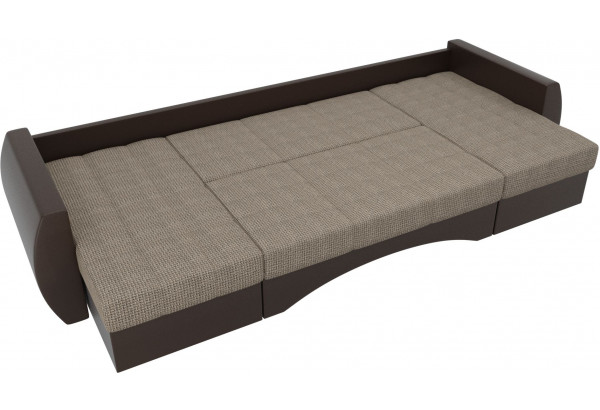 П-образный диван Сатурн Корфу 03/коричневый (Корфу/экокожа) - фото 6