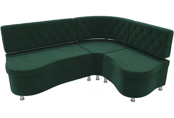 Кухонный угловой диван Вегас Зеленый (Велюр) - фото 4