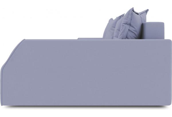 Диван угловой правый «Люксор Slim Т2» (Poseidon Blue Graphite (иск.замша) серо-фиолетовый) - фото 5
