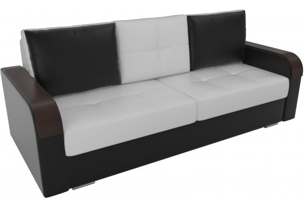 Прямой диван Мейсон Белый/Черный (Экокожа) - фото 4