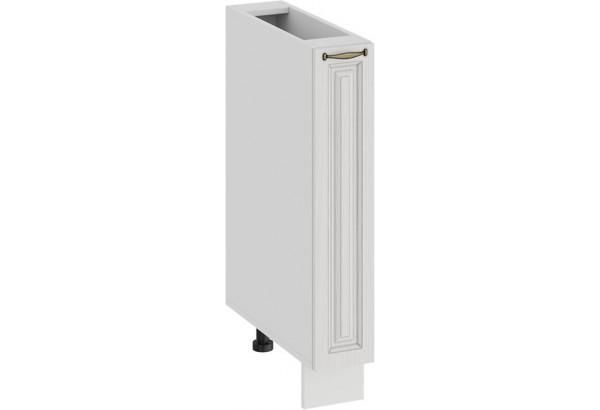 Шкаф напольный с выдвижной корзиной «Лина» (Белый/Белый) - фото 1