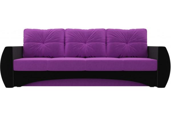 Диван прямой Сатурн Фиолетовый/Черный (Микровельвет) - фото 2