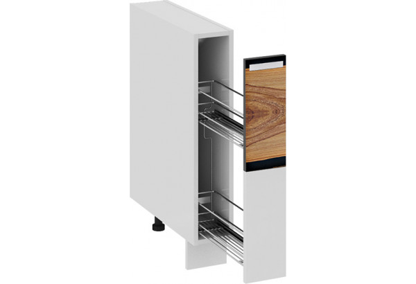 Шкаф напольный с выдвижной корзиной Фэнтези (Вуд) - фото 1