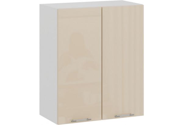 Шкаф навесной c двумя дверями «Весна» (Белый/Ваниль глянец) - фото 1