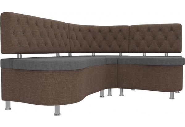 Кухонный угловой диван Вегас Серый/коричневый (Рогожка) - фото 3