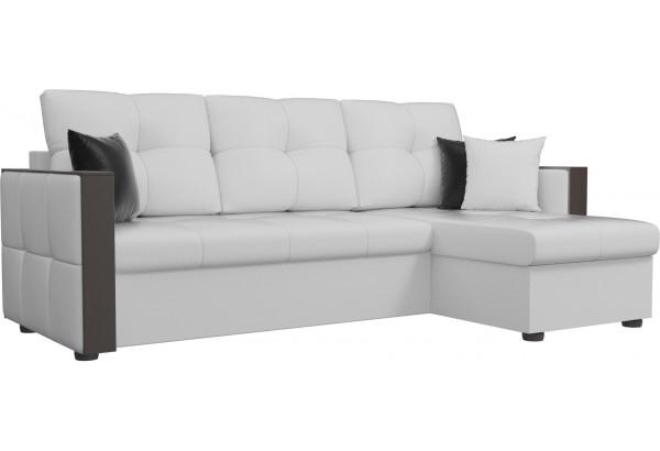 Угловой диван Валенсия Белый (Экокожа) - фото 1