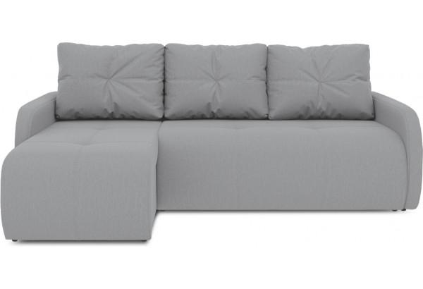 Диван угловой левый «Томас Slim Т1» (Poseidon Grey (иск.замша) серый) - фото 2