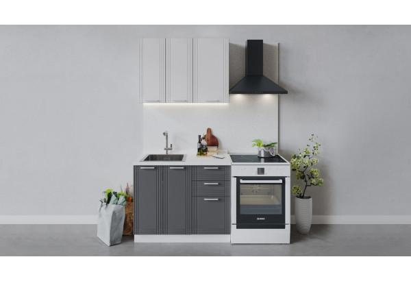 Кухонный гарнитур «Ольга» длиной 100 см (Белый/Белый/Графит) - фото 1