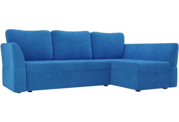 Угловой диван Гесен Голубой (Велюр) - фото 1