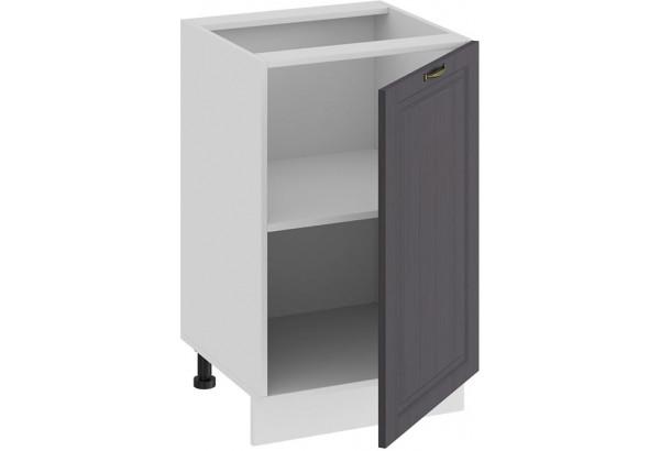 Шкаф напольный с одной дверью «Лина» (Белый/Графит) - фото 2