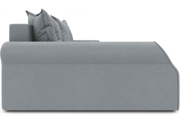 Диван угловой левый «Люксор Т2» (Kolibri Silver (велюр) серый) - фото 5