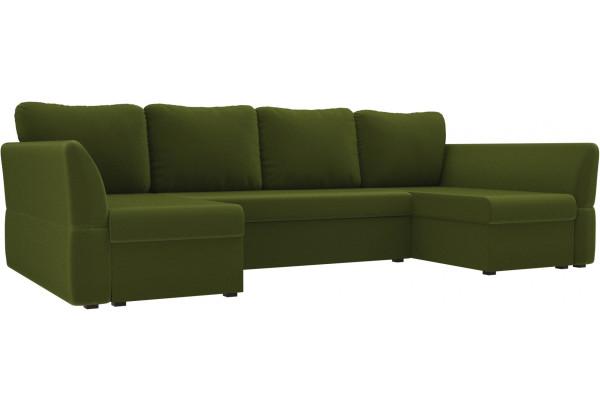 П-образный диван Гесен Зеленый (Микровельвет) - фото 1