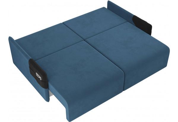 Прямой диван Армада голубой/черный (Велюр) - фото 7