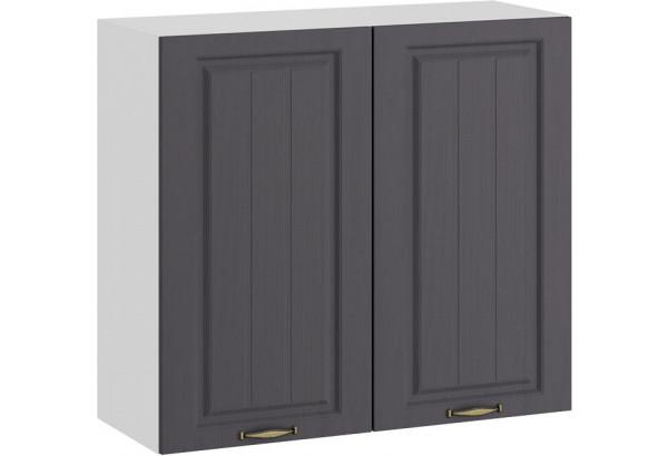 Шкаф навесной c двумя дверями «Лина» (Белый/Графит) - фото 1